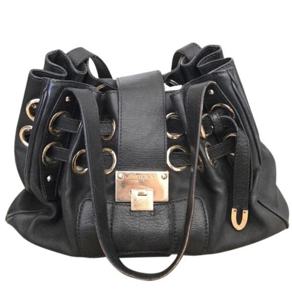 8549cdfb5f9 Jimmy Choo Bags | Black Leather Bag | Poshmark